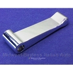 Door Handle Interior Chrome Plastic (Fiat 124 Spider, X1/9 1975-78) - OE NOS