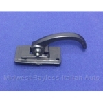 Door Handle Interior Black Plastic (Fiat 124 Sedan, 128, 500L) - OE NOS