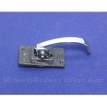 Door Handle Interior Chrome Metal (Fiat 124 Sedan, 128, 500L) - OE NOS