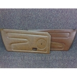 Door Panel Pair (Fiat X1/9 1979-On) Tobacco / Brown - U8