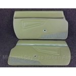 Door Panel PAIR 2x Dark Beige (Fiat 124 Spider 1979-85) - NEW