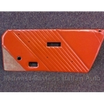 Door Panel Right (Fiat Bertone X1/9 1983-84) Red Leather - OE BLEM
