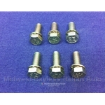 Door Strike Plate Bolt SET 6x (Fiat 850, 124 Sedan/Wagon) - RENEWED
