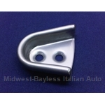Door Alignment Wedge Receiver Left STAINLESS (Fiat 124 Spider, 1500) - OE