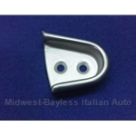 Door Alignment Wedge Receiver Right STAINLESS (Fiat 124 Spider All) - U8