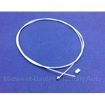 Engine Cover Release Cable - Braided (Fiat Bertone X19 All) - NEW