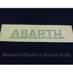 """ABARTH"" Gold lettering Decal - 4 3/4"" x 3/4"""