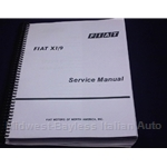 Factory Service Manual (Fiat X19 1973-78) - NEW