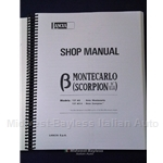 Factory Service Manual (Lancia Scorpion Montecarlo) - NEW