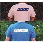 FIAT Back Logo T-Shirt - White Or Blue