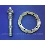 4-Spd Ring and Pinion SET 12/53 4.42 (Fiat X19, 128, Yugo) - U8