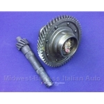 4-Spd Differential Carrier Assembly w/Ring and Pinion 12/53 4.42 (Fiat X19, 128, Yugo) - OE NOS