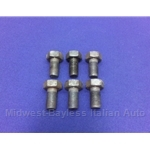Flywheel Bolt M12x22mm R12 - SET 6x DOHC (Fiat 124 Spider, 131, Lancia 1977-On) - U8