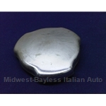 Fuel Filler Cap - Chrome Triangle - Threaded (Fiat 850 Spider 1969-On + X1/9) - U7.5