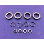 Fuel Injector O-Ring Seal KIT 12x (Fiat SOHC w/Bosch L-Jet) - NEW