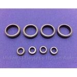 Fuel Injector O-Ring Seal KIT 8x (Fiat Pininfarina 124, Brava w/Bosch L-Jet) - NEW