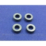 Fuel Injector O-Ring Seal 4x SET Lower (Fiat Lancia All w/Bosch L-Jet) - NEW