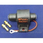 "Fuel Pump Electric ""FACET"" Rotary (Fiat Lancia All w/Carburetor) - NEW"