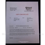 Gift Certificate $25.00 US Dollars
