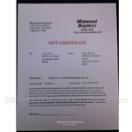 Gift Certificate $500.00 US Dollars