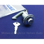 Glove Box Lock Assembly w/Key (Fiat 850 Spider) - OE NOS