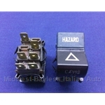 Hazard Switch (Fiat 124 Coupe, 128 1973-On + 124 Spider 1973-78) - OE NOS