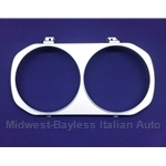 Headlight Bezel Left Chromed (Lancia Beta Coupe 1975-78) - OE NOS