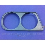 Headlight Bezel Right Black (Lancia Zagato 1/1981-on) - OE NOS