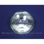"Headlight Bulb Sealed Beam 5.75"" / 145mm LOW 3-Contact (Fiat / Lancia) - NEW"