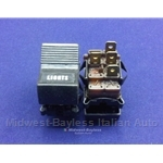 Headlight Switch 4-Pin / 3-Pos (Fiat 124 Coupe 1973-75, 128 Sedan/Wagon 1973-75) - OE
