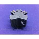 Heater Defrost Fan Switch (Fiat 850 Spider Coupe 1973) - OE