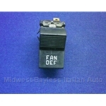 "Heater Blower Fan Switch ""FAN / DEF"" (Fiat X1/9 1973-78, 128, 124 Sedan) - U8"