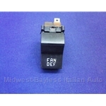 "Heater Blower Fan Switch ""FAN / DEF"" (Fiat X1/9 1973-78, 128, 124 Sedan) - OE"