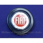 "Horn Button Assembly 50mm ""Fiat"" Logo (Fiat 124 Spider 1979-82 + Other FIAT) - U8"