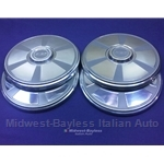 "Hub Cap 235mm SET 4x ""FIAT"" (Fiat 124 Spider Coupe 1974-78) - OE NOS"