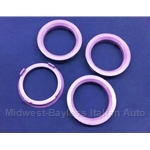 Hub-Centric Centering Ring SET of 4x (adapts 70.1mm --> 58.1mm) - NEW