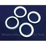 Hub-Centric Centering Ring SET of 4x (adapts 73.1mm --> 58.1mm) - NEW