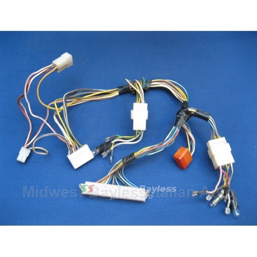 wiring harness for instrument dash gauges (fiat 124 spider) 79-82 u8  midwest-bayless