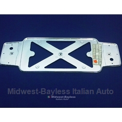License Plate Frame Chrome Plastic (Fiat 850 Spider, 124 Coupe, 128, Lancia Beta) - OE NOS