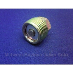 Transmission / Engine Oil Drain Plug M22x1.5 - Magnetic (Fiat Lancia All) - NEW