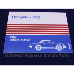 Owners Manual (Fiat 124 Spider 2000 1982) - NEW