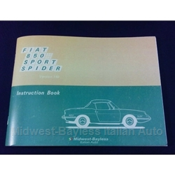 Owners Manual (Fiat 850 Spider 1970) - NEW
