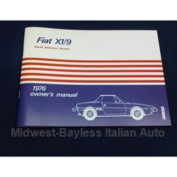 Owners Manual (Fiat X1/9 1976) - NEW