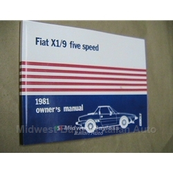 Owners Manual (Fiat X1/9 1981) - NEW