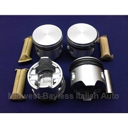 Piston Set 65.6mm - Flat Top (Fiat 850 Spider Coupe 843cc/903cc) - NEW