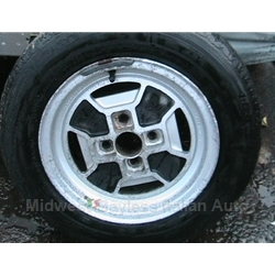 "Alloy Wheel CD-16 ""Iron Cross"" 13x5.5 ( (Fiat X1/9, 850, 128, Lancia Scorpion) - U7.5"