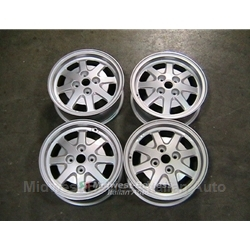 Alloy Wheels SET 4x F.P.S. (Lancia Beta Scorpion, Fiat 124, 131, 128) - RECONDITIONED