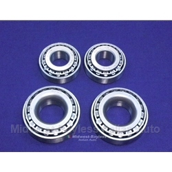 Wheel Bearing Front SET - 2x each Outer+Inner (Fiat 124 Spider Coupe All) - NEW