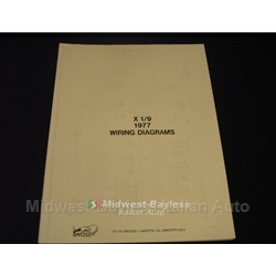 Wiring Diagrams Manual (Fiat X19 1977) - NEW