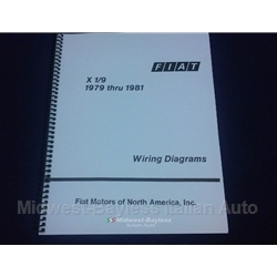 Wiring Diagrams Manual (Fiat X19 1979-82) - NEW